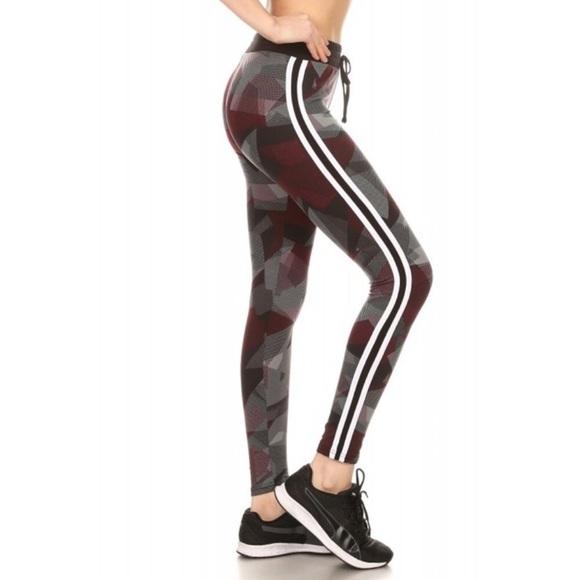 a70b1a0c47663 Pants | High Waisted Sports Leggings With Side Stripes | Poshmark